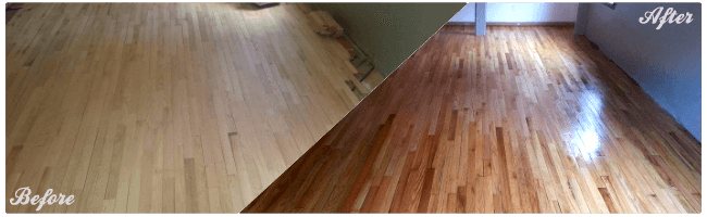 Hardwood flooring project